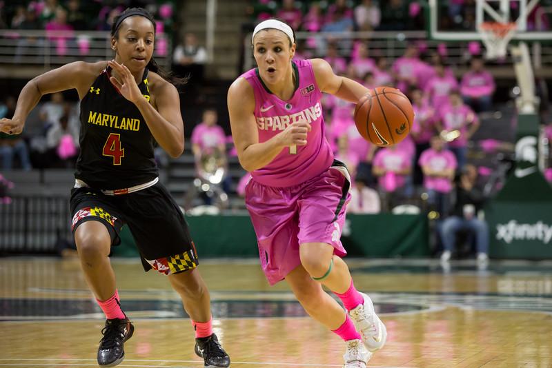 MSU Women's Basketball - Maryland 2/16/14