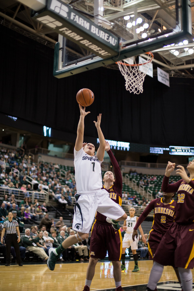MSU Women's Basketball - Minnesota 2/17/14